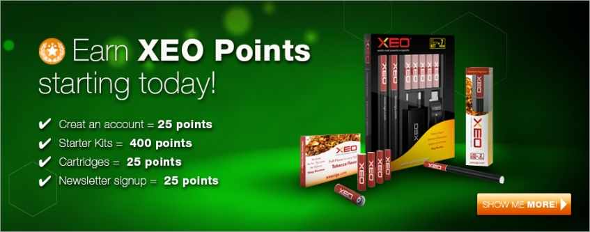 Earn XEO Ecigs Rewards Point
